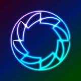 Красочный накалять звенит - абстрактное искусство предпосылки eps10 Стоковое фото RF
