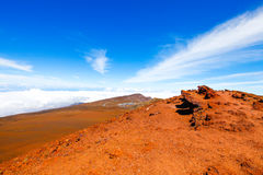Красочный наклон кратера Haleakala - национального парка Haleakala, Мауи, Гаваи Стоковые Фото