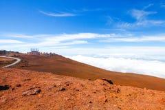 Красочный наклон кратера Haleakala - национального парка Haleakala, Мауи, Гаваи Стоковые Изображения RF