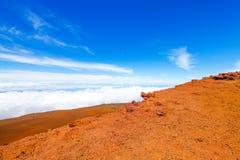 Красочный наклон кратера Haleakala - национального парка Haleakala, Мауи, Гаваи Стоковое Изображение RF