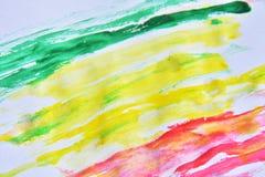 красочный на белой бумаге для предпосылки Стоковая Фотография RF
