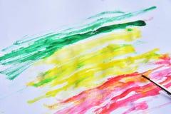 красочный на белой бумаге для предпосылки Стоковая Фотография