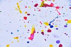 красочный на белой бумаге для предпосылки Стоковое Изображение RF