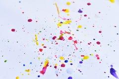 красочный на белой бумаге для предпосылки Стоковые Фотографии RF