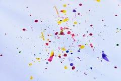красочный на белой бумаге для предпосылки Стоковое Изображение