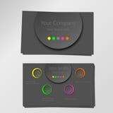 Красочный неоновый профессиональный современный дизайн визитной карточки вектора Стоковые Фотографии RF