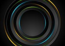 Красочный неон зарева объезжает абстрактную предпосылку Стоковые Фото