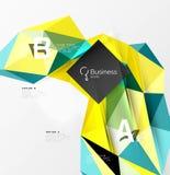 Красочный объект мозаики 3d треугольника геометрический с infographics Стоковое Фото