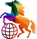 Красочный логотип лошади Стоковое фото RF