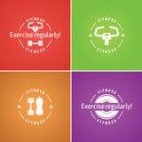 Красочный логотип фитнеса комплекта Стоковые Изображения RF