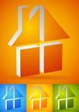 Красочный дом, значки дома, логотипы для того чтобы проиллюстрировать недвижимость, Стоковые Изображения RF