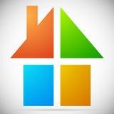Красочный дом, значки дома, логотипы для того чтобы проиллюстрировать недвижимость, Стоковые Изображения