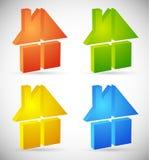 Красочный дом, значки дома, логотипы для того чтобы проиллюстрировать недвижимость, бесплатная иллюстрация
