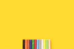 Красочный пастельный crayon Стоковая Фотография RF