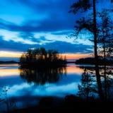 Красочный пейзаж озера Стоковое Изображение RF