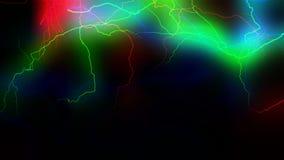 Красочный перевод разрядки 3d энергии стоковое изображение rf