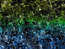 Красочный передернутый конспект придает квадратную форму текстуре предпосылки Стоковое фото RF