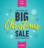 Красочный плакат продажи рождества большое сбывание скидка праздника Знамя зимы сезонное Знамя праздника Плакат покупок Стоковые Изображения