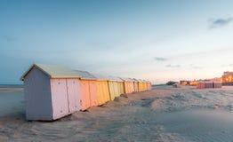 красочный пляж купая кабины Стоковое фото RF