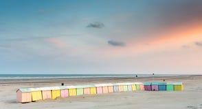 красочный пляж купая кабины Стоковая Фотография RF