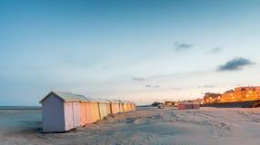 красочный пляж купая кабины Стоковое Изображение