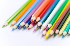 Красочный покрашенный крупный план карандаша Стоковое Изображение