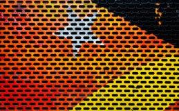 Красочный покрашенный пефорированный металлический лист Стоковые Изображения