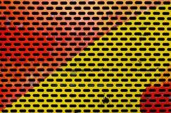 Красочный покрашенный пефорированный металлический лист Стоковое фото RF