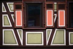 Красочный Полу-timbered фасад Стоковые Фото