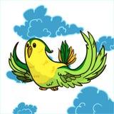 Красочный попугай иллюстрация штока