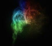 Красочный порошок взрывая стоковое изображение