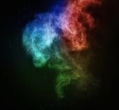 Красочный порошок взрывая стоковая фотография