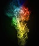 Красочный порошок взрывая стоковые фото