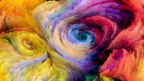 Красочный поток краски Стоковая Фотография