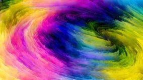 Красочный поток краски Стоковое фото RF