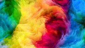 Красочный поток краски Стоковое Изображение RF
