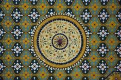 Красочный потолок, гостиница дворца Raj Vilas, Джайпур, Раджастхан, Индия стоковые изображения