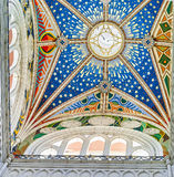 Красочный потолок собора Almudena стоковая фотография rf