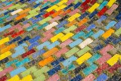 Красочный пол блока в garden2 Стоковое фото RF