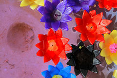 Красочный плавать свечи цветка Стоковая Фотография