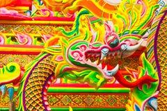 Красочный дракон на общественном парке, Таиланде. Стоковая Фотография