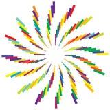 Красочный радиальный круговой элемент Multicolor геометрический круг  иллюстрация штока
