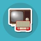 Красочный ретро дизайн ТВ, иллюстрация вектора Стоковое Изображение RF