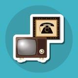 Красочный ретро дизайн ТВ, иллюстрация вектора Стоковые Фотографии RF