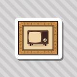 Красочный ретро дизайн ТВ, иллюстрация вектора Стоковое Изображение