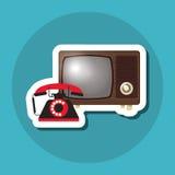 Красочный ретро дизайн ТВ, иллюстрация вектора Стоковые Изображения