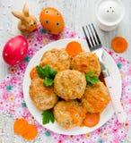 Красочный рецепт меню праздника пасхи Стоковое фото RF