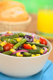 Красочный салат зеленой фасоли Стоковые Изображения