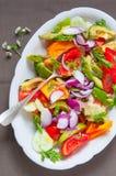 Красочный салат мозаики лета Стоковые Фотографии RF
