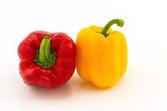 Красочный свежего красного и желтого сладостного болгарского перца (capsicum) Стоковое Фото